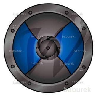 Viking Shield - blue illustration