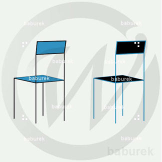 Simple Chair - Blue