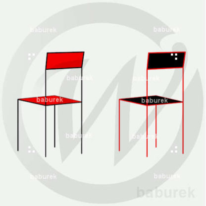 Simple Chair - Red