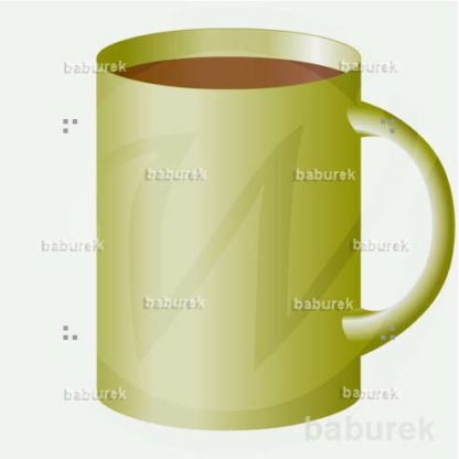 Large green coffee cup