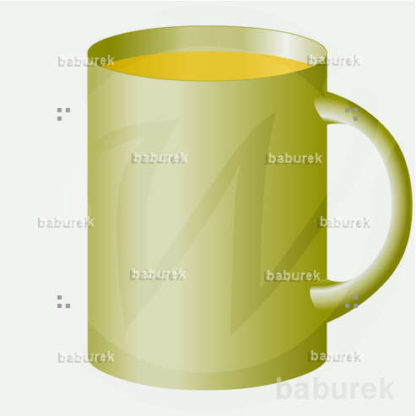Large green tea cup