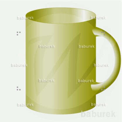 Large green cup