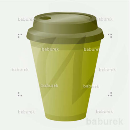 Disposable cup - green