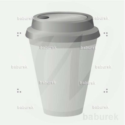 Disposable cup - white/grey