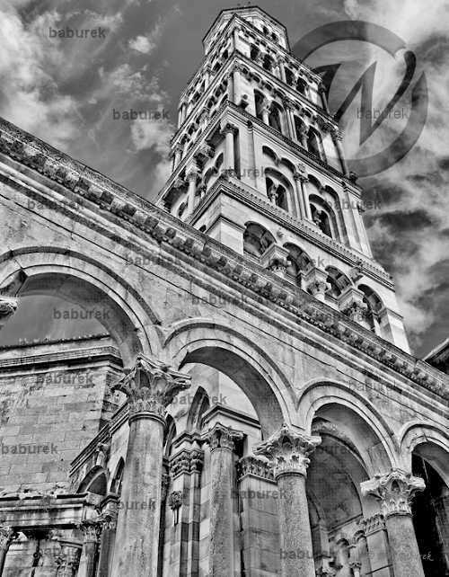 B&W HDR - Cathedral of Saint Domnius, Split