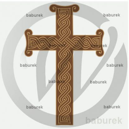Holy Cross with Croatian interlace