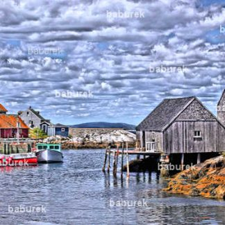 Peggy's Cove Fishing Village - HDR