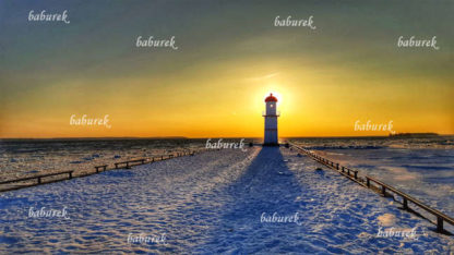 Lachine Range Front Lighthouse in Winter