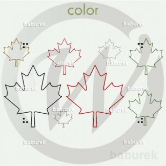 Canada Maple Leaf - Line Art
