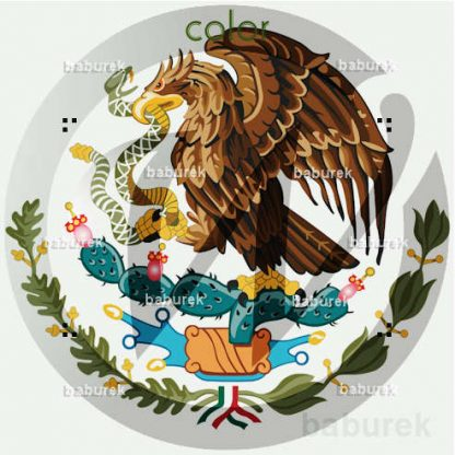 The coat of arms of Mexico