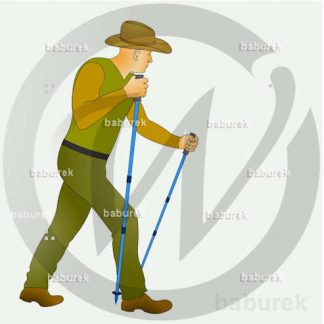 Hiker with Trekking poles